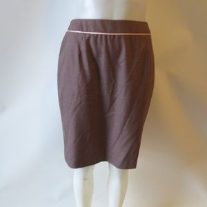 ESCADA BROWN PINK HIGH WAIST A-LINE SKIRT SZ 36/S